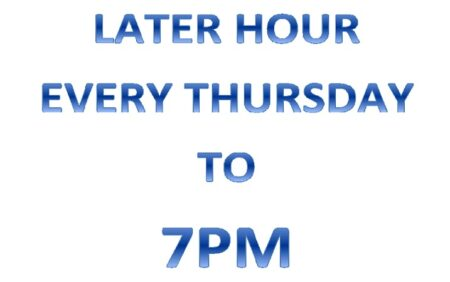 Hour Later Thur 7pm